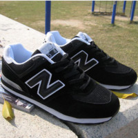 """New balance""Fashionable Women/Men comfortable leisure sports shoes Black"