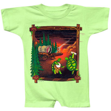 Grateful Dead - Covered Wagon Mint Infant Romper