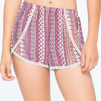 FULL TILT Boho Print Womens Wrap Shorts | Gypset