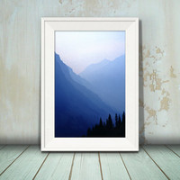 Rocky Mountains Glacier National Park Montana Photographic Fine Art Print artwork home and office decor by Nancy G Photography