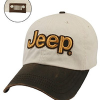 Jeep® Leather Visor Cap