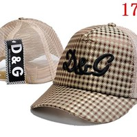 D&G  embroidery Strap Cap Adjustable Golf Snapback Baseball Hat