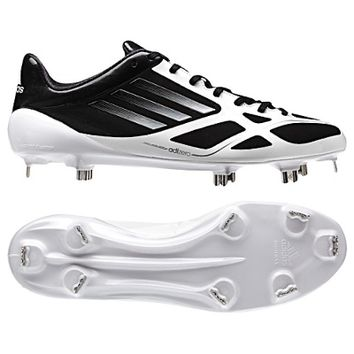Adidas adizero 5 Tool 2.0 Metal Cleats - Black/Silver/White