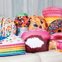 Amazon.com: iscream Yummy Treats Buttercream Scented Donut with Bite Microbead Pillow