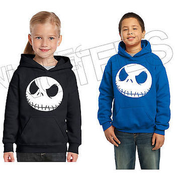 Nightmare Before Christmas Jack, Kids Unisex Hooded Sweatshirt Jumper Hoodie