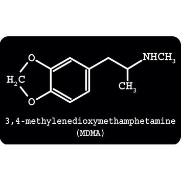 MDMA Molecule Decal