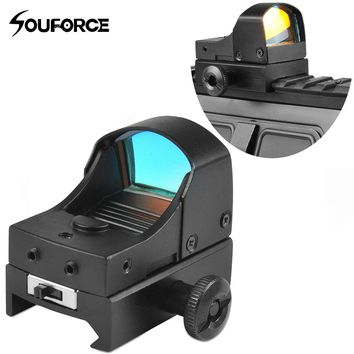 New Tactical Mini Red Dot Sight Compact Holographic Reflex Micro Red Dot Sight Scope Rifle&Pistol for Airsoft