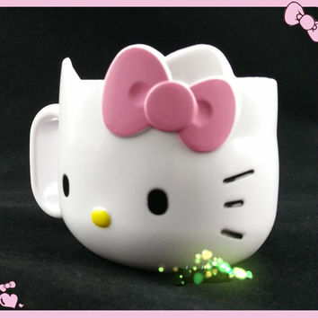 New Hello Kitty Mug gargle cup milk Cup Tumbler Rinse Cup Handle - melamine 1pc laa-3