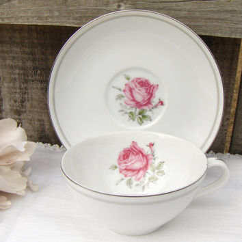 Vintage Imperial Rose 6702 Fine China Teacup Japan