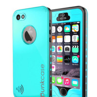 PUNKCASE iPhone 6 Waterproof Case, Punkcase Apple Light Blue Thin Fit 6.6ft Underwater Waterproof Case - iPhone 6 PUNKIP6R004