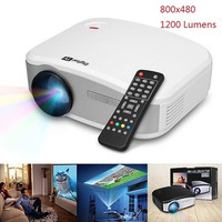 MiNi LED Projector 800x480 1200 Lumens Home Theater HDMI/USB/VGA/AV/DTV