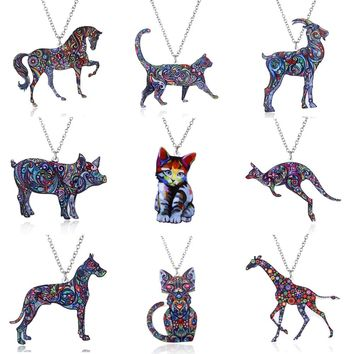 Acrylic Animal Necklace