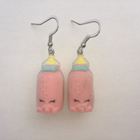 Shopkins Foodie Earrings - Dribbles - repurposed toys