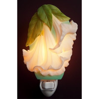 Angel Trumpet Night Light, Ibis & Orchid Nightlights, NIB, 50147