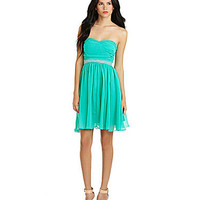 MM Couture By Miss Me Ruched Strapless Dress | Dillards.com