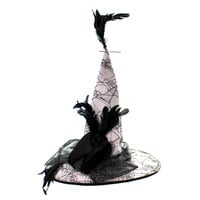 Halloween Spider Web Witches Hat Halloween Costume Accessory