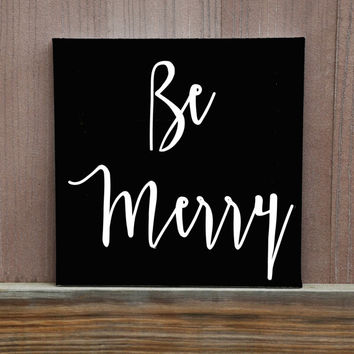 Eat, Drink and Be Merry Six Piece Canvas Set, 12x12, Ready To Hang, Kitchen Decor, Dining Room Decor, Custom Colors