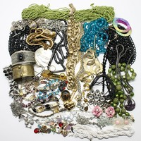 Vintage Jewelry Supply Lot Seed Bead KC Weiss Chains Earrings More