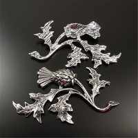 GraceAngie 20PCS Antiqued Style Silver Tone Alloy THISTLE Jewelry Accessory 47*32*2MM 32136
