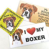 Boxer, Dog Gift Pack, Elegant Three Large Magnet, Gift For, Boac Labrador Lovers, Set of Three