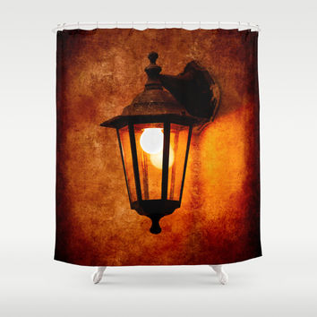 The Age Of Electricity Shower Curtain by Digital2real