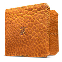 Bison Leather Bifold Wallet, Pumpkin, Wallets
