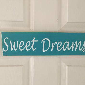 14x4 Sweet Dreams Wood Sign