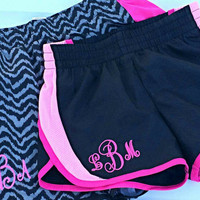 Girls Monogrammed Athletic Running Shorts- New colors - Cheer - Gift- Spring Break