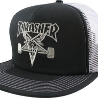 Thrasher Sk8 Goat Mesh Hat Adjustable Black/Silver