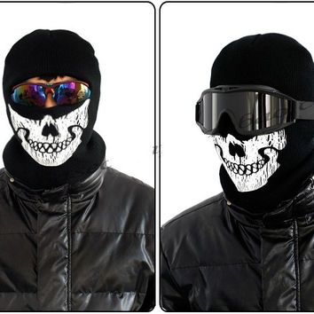 Ghost Mask Skull Outdoor CS Face Bike Skateboard Hood Cos Costume Call of Duty 6