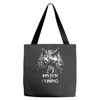 game of thrones direwolf winter is coming Tote Bags