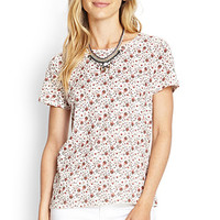 LOVE 21 Floral Print Jersey Tee