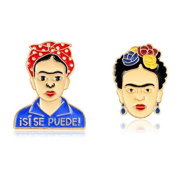 Frida Kahlo Glama Unicorn Planet Game Over Deadpool Keyboard Pins Badges Brooches For Men Women Pins Collection