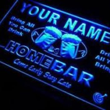 "Name Personalized Custom ""Home Bar"" Beer Mug Bar Pub Neon Sign - Large Size"