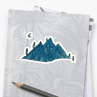 'Mountain Sounds' Sticker by hadimaine