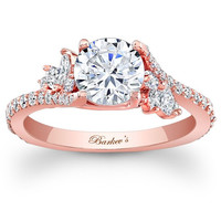 "Barkev's ""Flare"" Prong Set Diamond Engagement Ring"