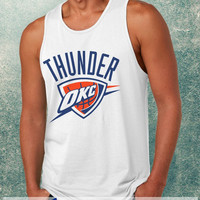 Oklahoma City Thunder Logo Clothing Tank Top For Mens