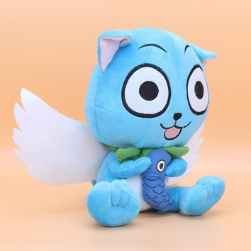 23CM Japanese Anime Cartoon Fairy Tail Happy Plush Toy Plush Doll Figure Toy
