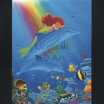 The Little Mermaid | Ariel | 3D Art | By PFF | Framed | 3-D | Lenticular Artwork | Disney Licensed