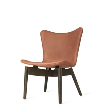 SHELL LOUNGE CHAIR - LEATHER UPHOLSTERY