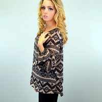 Wolf River Side Mocha Tribal Top
