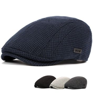 Unisex Men's Newsboy Beret Cabbie Cap Golf Driving Flat Cotton Wool Gatsby Hats