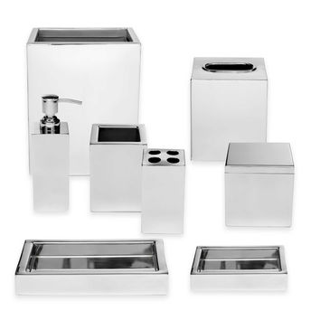 Roselli Trading Modern Bath Ensemble in Stainless Steel