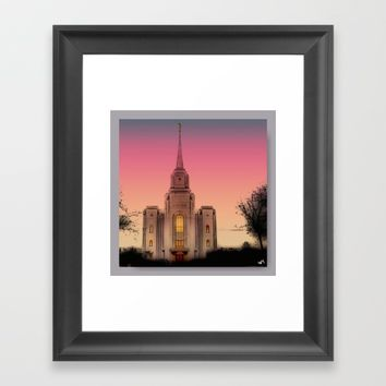 GLASS HOUSES Framed Art Print by Jessica Ivy