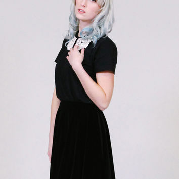 Cakewalk - Peter pan collar shirt - solid black
