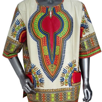Custom African Shirts Men Dashiki Men Clothes Traditional African Clothing One Piece Print Africa Clothing 6XL WYN37