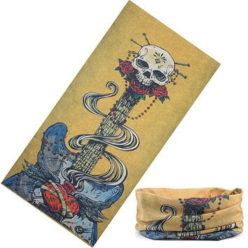 High Quality New Skull Bandanas Scarf Multifunctional Hip Hop 100% Polyester Headband Magic Seamless Face Mask Neck Tube Scarf