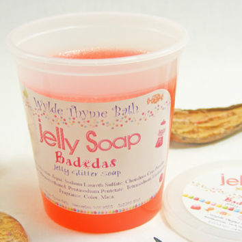 Badedas Glitter Jelly Soap - Wiggly Jiggly Jelly Soap - Vegan - Fun Jelly Soap - Shower Jellie