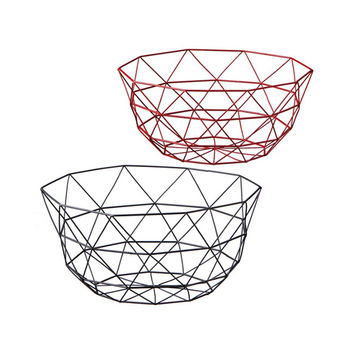 Decorative Geometric Dome Wire Bowl - Set of 2