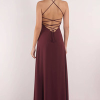 Rise Above Lace Up Back Maxi Dress
